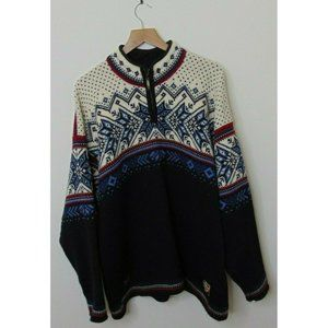 Dale of Norway L New Wool US Ski Team Sweater Blue